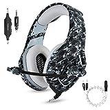 PS4 Gaming Headset Micrófono con cancelación de ruido para PC Gamer Auriculares gaming para computadora portátil Teléfonos inteligentes Surround Stereo Sound Control de volumen
