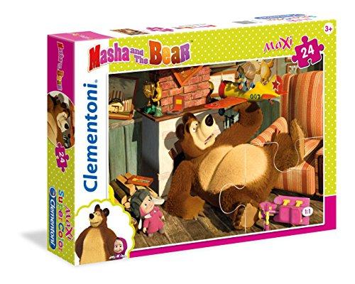Clementoni- Masha e Orso Supercolor Puzzle, 24 Pezzi, 24492