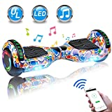 UNI-SUN 6.5' Hoverboard for Kids, Two Wheel Electric Scooter, Self Balancing Hoverboard with Bluetooth and LED Lights for Adults, UL 2272 Certified Hover Board(Colorful Bubbles)