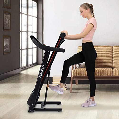 """HYLINCO Folding Electric Treadmills for Home, Foldable Compact Treadmill with Incline, 5"""" LCD Display and Tablet/Cup Holder, Portable & Quiet Running Machine 3"""
