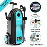 iRozce Pressure Washer, 2610PSI 1.85GPM Max Electric Power Washer with Foam Cannon, Metal Adapter, Quick Connector Nozzles for Driveway, Deck, Patio Furniture, Car Washing, Blue
