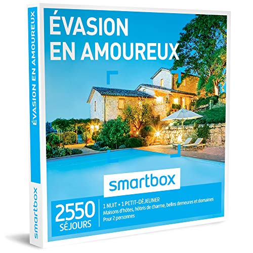 SMARTBOX - Coffret Cadeau homme femme couple - Évasion en amoureux - idée...