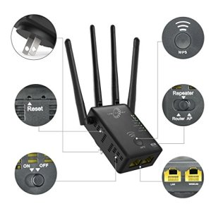 VICTONY-WiFi-Range-Extender-1200Mbps-Dual-Band-WiFi-Repeater-with-4-Antennas-WiFi-Extender-Wall-Mount-RouterAPRepeater