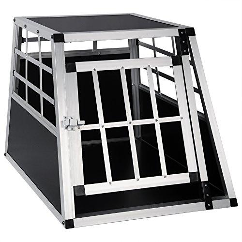 EUGAD 0050HT Aluminium Cage de Transport Cage Aluminium de Chien avec 1 Porte,Noir