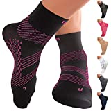 TechWare Pro Plantar Fasciitis Sock - Ankle Support Compression Socks Women & Men. Foot Brace with...