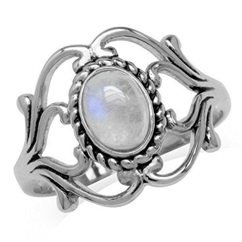 Silvershake Natural Moonstone 925 Sterling Silver Victorian...