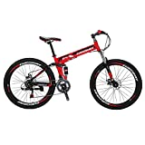 Mountain Bike G4 21 Speed 26Inches Folding Bike (Red)