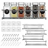 Organizador Especias Autoadhesivo, Set de 4 Estantes de Metal, Especiero de Cocina, Organizador de...