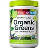 Greens Powder Smoothie Mix | Purely Inspired Organic Greens Powder Superfood | Super Greens Powder Organic | Fruit + Veggie Superfood Powder | Green Smoothie Powder, 24 Servings (Package May Vary)