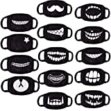 6 Pack Random Pattern Anime Unisex Blend Anti Dust Face Black for Man Woman Kids (Only fit Over 10 Years Old)