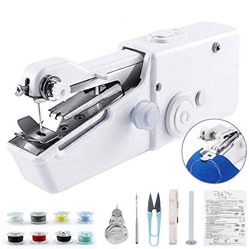 YINGY macchina da cucire portatile per principianti, mini cucitrice elettrica a mano senza fili Por