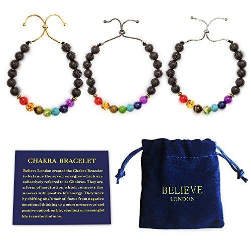 Believe London Chakra Bracelet with Jewelry Bag & Meaning...