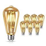 Edison Ampoule, tonitott LED Edison Ampoule Rétro Décorative Ampoule Filament...