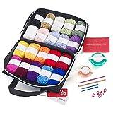 Mind My Thread 20 Skeins Acrylic Yarns For Crochet Knitting Craft Kit...