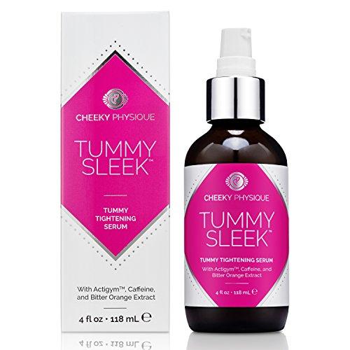 Tummy Sleek Tummy Tightening Serum - Skin Firming & Body Toning Gel for Abs Belly and Waist with Actigym + Caffeine + Bitter Orange Extract - 4 oz. 1