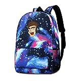 David A Beltran La-Zar-Beam- Mochila para niños, diseño de cielo estrellado, para viajes al aire libre