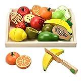 CARLORBO Jouets en bois Jeux de simulation de nourriture pour enfants Cuisine,...