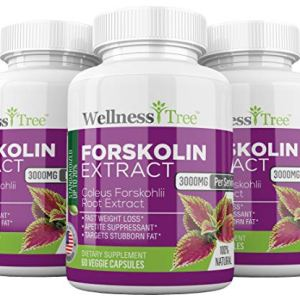 Pure Forskolin 3000mg Max Strength - Forskolin Extract for Weight Loss - Premium Appetite Suppressant, Metabolism Booster, Carb Blocker & Fat Burner for Men and Women - 3 Pack 1 - My Weight Loss Today