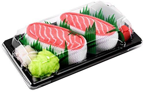 Rainbow Socks - Donna Uomo Calzini Sushi Salmone - 1 Paio - Taglia 36-40