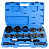 FreeTec Juego de herramientas para montaje de rodamientos de ruedas, 19 piezas, para VW, Audi, Opel, Fiat, BMW, Ford