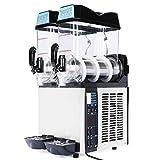 Slush Machine- Slushie Machine and Beverage Dispenser with Two 12L Tanks, 110V and 60Hz, Make the...