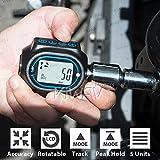 KiWAV Digital Torque Wrench Adapter 3-200Nm compatible with 1/2' 3/8' 1/4' Drive Socket Buzzer Alarm Audible Alert