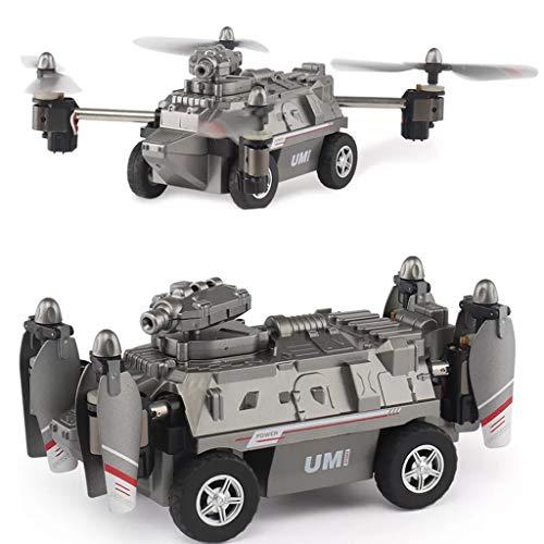 NINYGW 1 Set FY330 2 In 1 Aria e Terreno Modalit 0.2MP 720 P WIFI FPV Militare Elicottero Drone Car Carro Armato Giocattoli 2.4G 4CH RC Quadcopter