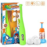 HUADADA Training Automatic Launcher Baseball Bat Toys - Indoor Outdoor Sports Baseball Games T-Ball Set for ChildrenGift for Kids 1 2 3 Years Old