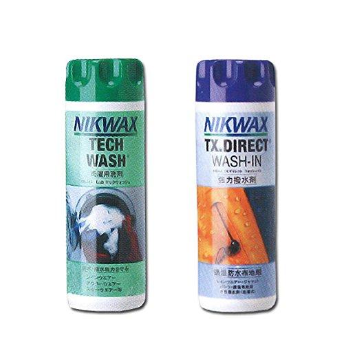 NIKWAX(ニクワックス) NIKWAX ウェア用洗剤 テックウォッシュ EBE181 & TX ダイレクトウォッシュイン EBE25...