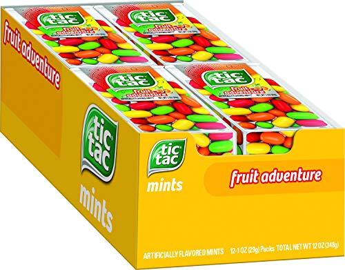 Tic Tac Fresh Breath Mints, Fruit Adventure, Bulk Hard Candy Mints, 1 Oz Singles, 12 Count
