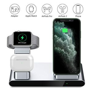 Yootech-3-in-1-Fast-Wireless-ChargerInnovative-Metal-Wireless-Charging-Station-with-Adapter-75W-Compatible-with-iPhone-SE-202011XS-Max825W-for-AirPods-ProApple-WatchNo-iWatch-Charging-Cable