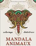 Coloriage Antistress mandala Animaux: livre mandala animaux   album coloriage pour adulte   dessin antistress à colorier   21,6 x 27,9 cm