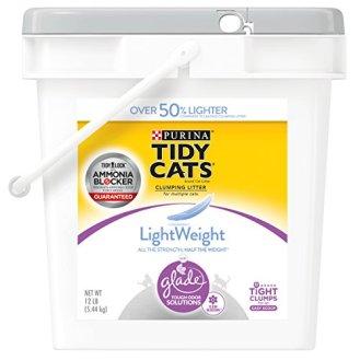 Purina-Tidy-Cats-Light-Weight-Dust-Free-Clumping-Cat-Litter-LightWeight-Glade-Clean-Blossoms-Multi-Cat-Litter-12-lb-Pail