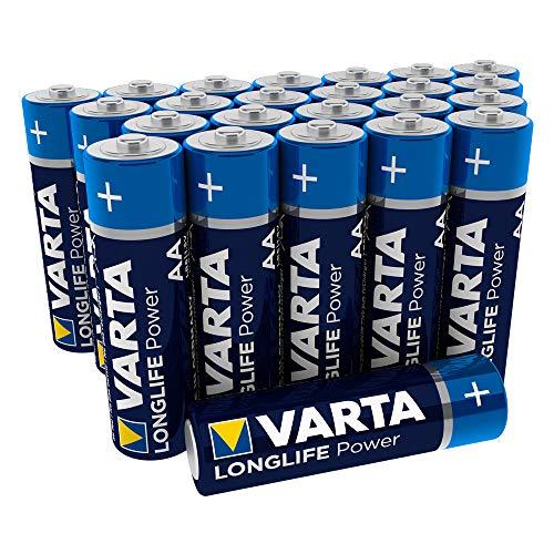 Varta 4906 Longlife Power (High Energy) Batteria Alcalina, Stilo AA  LR6, Confezione da 24 Pile - Il design può variare, Confezione risparmio
