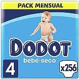 Dodot Pañales Bebé-Seco Talla 4 (9-14 kg), 256 Pañales con Protección...