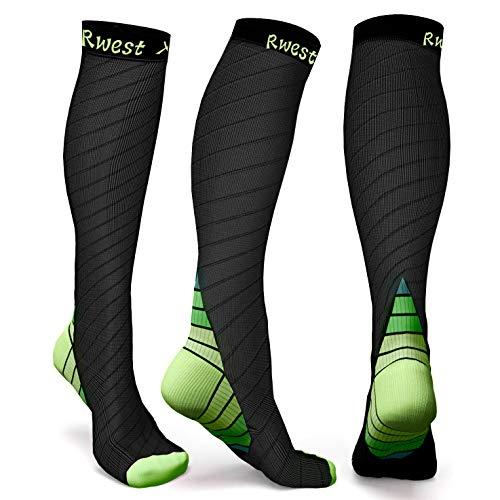Rwest X Calze a Compressione Graduata per Uomo E Donna capacit di Resistenza, Migliora Le Prestazioni per Sport, Corsa, Escursioni, Giri in Bici, Viaggi in Aereo