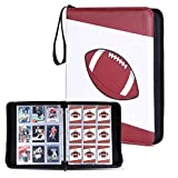 Football Cards Binder Holds Up to 720 Cards with 40 Sleeves, Famard Trading Card Binder with...