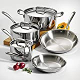 Tramontina 80116/544DS Stainless Steel Tri-Ply Clad Cookware Set, 8-Piece, Made in China