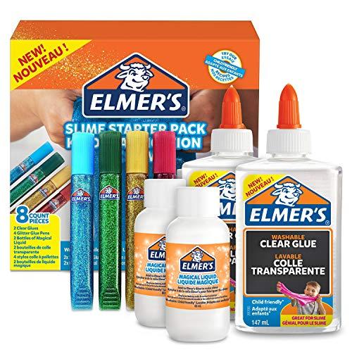 Elmer's Kit Iniciación Slime con pegamento transparente, ba