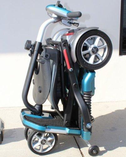 EV Rider Transport Plus - Manual Folding Scooter Power Mobility (SeaFoam Blue)