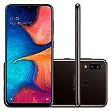 Samsung Galaxy A20 32GB A205G/DS 6.4' HD+ 4,000mAh Battery LTE Factory Unlocked GSM Smartphone (International Version, No Warranty) (Black)