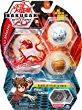 Bakugan Starter Pack 3-Count, Pyrus Fangzor, Collectible Action Figures, for ages 6 and up