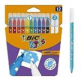 BIC Kids Magic Feutres Magiques à Pointe Moyenne - Couleurs Assorties,...