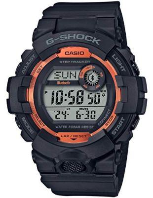 Men's Casio G-Shock Digital Power Trainer Connected Black Resin Watch GBD800SF-1