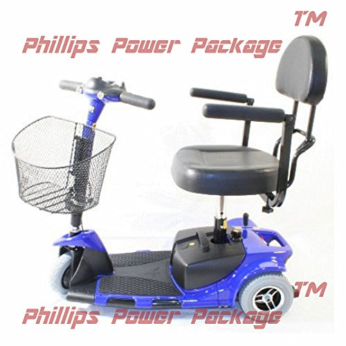 Zip'r Mobility - Zip'r Roo - Travel Scooter - 3-Wheel - 16.5'W x 14.5'D - Blue - Phillips Power Package TM - to $500 Value