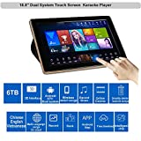 HAJURIZ 18.5'' Touch Screen Karaoke Player,6TB HDD 130K Vietnamese English Chinese Songs,240K Multi-Language songs On Cloud,Free Download,Android,KTV Dual system.Score,Record