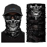 ShopINess Cache-Cou/Bandana Multifonctions - Crâne/tête de Mort (crâne...