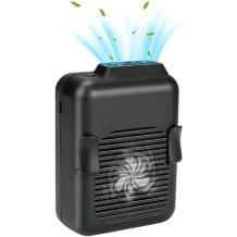 E-More Ventilador Portátil Ventilador Clip de Cintura Ventilador de Collar Portátil 6000mAh Batería USB Recargable Mini Ventilador de Mesa para Hogar Oficina Viajar Deporte Acampar al Aire Libre