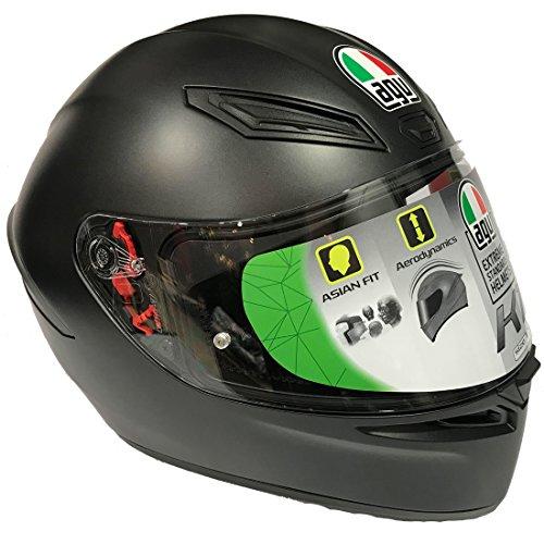 AGV(エージーブイ) バイクヘルメット フルフェイス K1 028194IY003-S MATT BLACK (マットブラック)) S (頭囲 55cm~56cm)