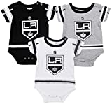 Outerstuff Los Angeles Kings Baby/Infant Hockey Jersey Style 3 Piece Creeper Set 12 Months